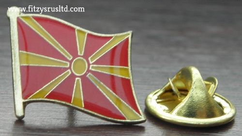 Macedonia Macedonian Flag Lapel Hat Cap Tie Pin Badge   New